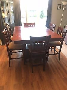 Bar top dining set
