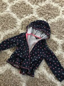 Size 5T hearts and anchors hoodie with ears