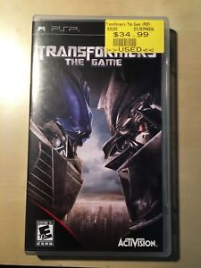 Transformers The Game for PSP (PlayStation Portable)