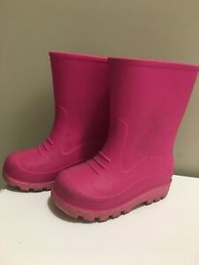 Size 7 Toddler Pink Rain Boots