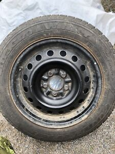 4 205/60/16 Goodyear winter tires on rims