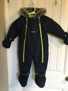 Snowsuit 12M with detachable mittens and booties -25C
