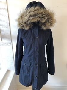 Ladies Abercrombie & Fitch Coat Navy Blue Size Small