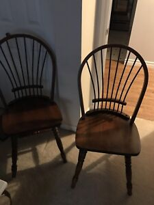 4 solid maple chairs for sale