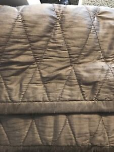 Gold queen size coverlet