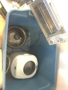 Bread maker, small oven, kettle, instant cooker and hair dryer