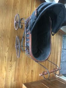 Antique mini stroller pram basseinette