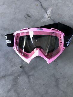 Moto pink motor bike goggles