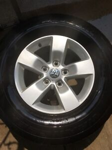 Dodge Ram 1500 rims and Goodyear Wrangler Tires