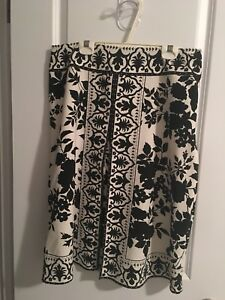 Black and white. Floral skirt