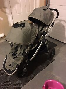 City Select Double Stroller with Universal Car Seat Attachment