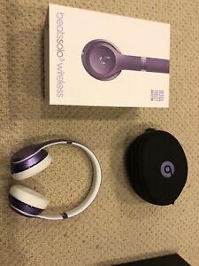 Beats solo 3 wireless purple