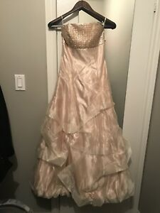 New Champagne Gunne Jessica McClintock Wedding Evening Dress 0