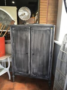 Antique refinished wardrobe $840 plus dressers for $100
