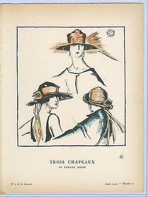 Porter Woodruff  Gazette Du Bon Ton  Trois Chapeaux