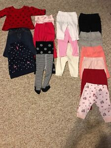 Girl 3-6 month pant lot