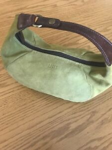 Suede Green Roots Handbag