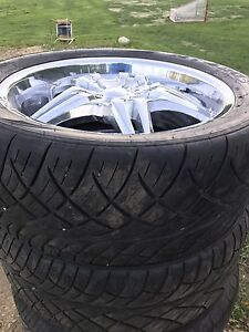 "Trade or sell 22"" rims and tires 305 40 22"
