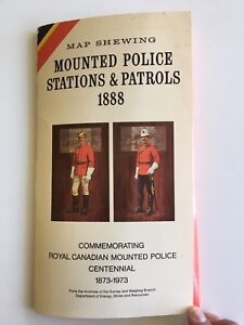 1973 Vintage Map Shewing of Mounted Police Stations & Patrols