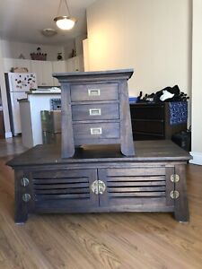 Wicker Emporium coffee table and side table
