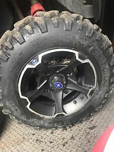 "Polaris rzr xc wheels 27"" tires 14"" rims  8 PLY RADIALS"