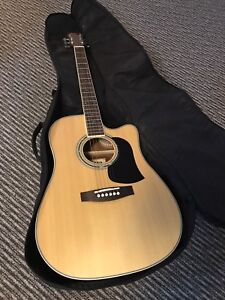 Aria acoustic guitar with pre amp