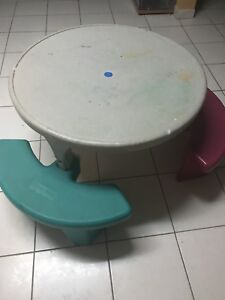 Fisher price adjustable round picnic table