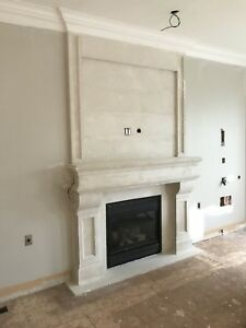 Fireplace stone cast mantels