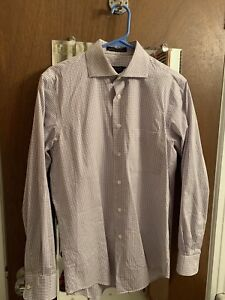 Alfred Sung Non-Iron Dress Shirt Size 15 32/33 Small