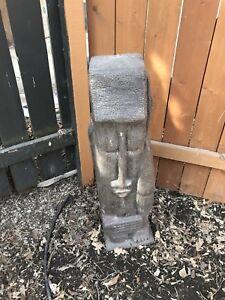 Garden stone statue