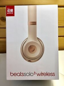 NEW in box Beats Solo 3 Wireless Headphones - Matte Gold
