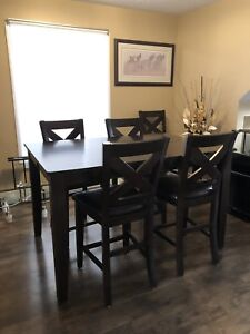 Pub Style Table and Chairs Expresso