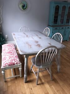 Dinning table with chairs & bench