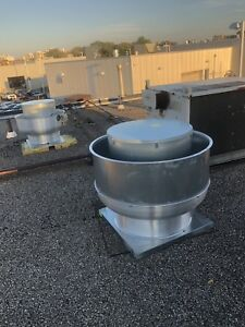 Commercial kitchen exhaust fan make up air fire suppression hood