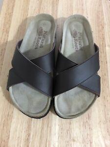 Men's Roots Leather Sandals