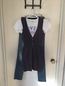 Complete Outfit! Jeans, T-Shirt, Cami, Sweater Vest!