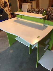 Jigsaw Desk and Matching Bookcase