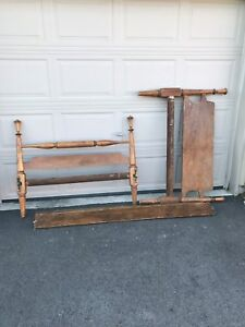 Antique 3/4 solid wood bed