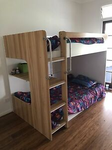 King single bunk bed ( with or without mattresses) Cedar Vale Logan Area Preview