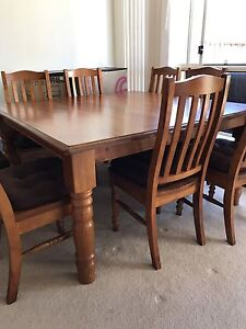 8 Seater dining table and chairs Moorebank Liverpool Area Preview