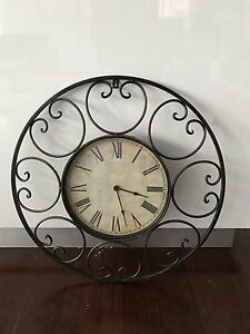 Antique Metal Wall Clock Craigieburn Hume Area Preview