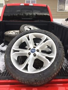 20 inch factory FORD rims/ new 245/45ZR20 tires