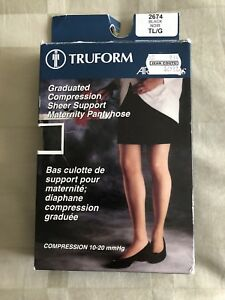 New Graduated compression sheer support maternity pantyhose.