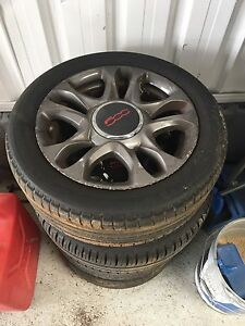 FIAT 500 ALLOY WHEELS SET MUST SELL BARGAIN Lansvale Liverpool Area Preview