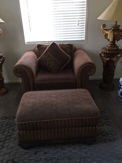 Far Pavillions Sofa chair and foot rest