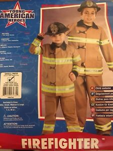 Firefighter costume boys small