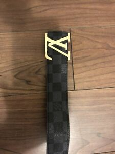 Louis Vuitton graphite belt