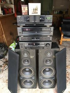 Kenwood Receiver Equalizer Technics SB-A34 Speakers CD Player