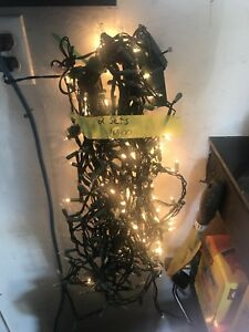 Two sets of clear Christmas lights