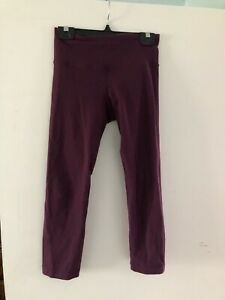 Lululemon crop plum leggings size 2